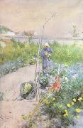 Carl Larsson In the Kitchen Garden (nn2 oil painting artist