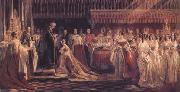 Charles Robert Leslie Queen Victoria Receiving the Sacrament at her Coronation 28 June 1838 (mk25) oil
