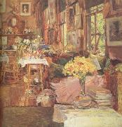 Childe Hassam The Room of Flowers (nn03) oil painting picture wholesale