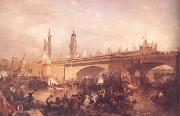 Clarkson Frederick Stanfield The Opening of London Bridge (mk25) oil