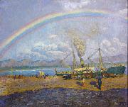 Dario de Regoyos The Rainbow (nn02) oil