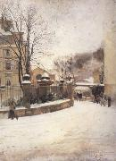 Edouard Castres Snowed up Street in Paris (nn02) oil painting artist