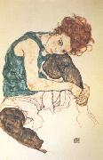 Egon Schiele Seated Woman with Bent Knee (nn03) oil painting picture wholesale