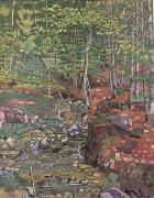 Ferdinand Hodler The Forest Interior near Reichenbach (nn02) oil painting picture wholesale