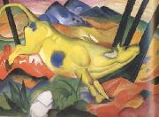 Franz Marc Yellow Cow (mk34) oil painting picture wholesale