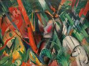 Franz Marc Rain (mk34) oil painting picture wholesale