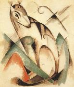 Franz Marc Seated Mythical Animal (mk34) oil painting picture wholesale