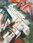 Franz Marc Mountains (mk34) oil painting picture wholesale