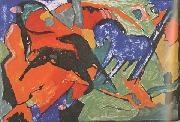 Franz Marc Two Horses (mk34) oil painting picture wholesale