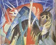 Franz Marc Fairy Animals i (mk34) oil painting picture wholesale