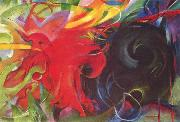 Franz Marc Fighting Forms (mk34) oil painting picture wholesale