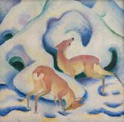 Franz Marc Deer in the Snow (mk34) oil painting picture wholesale