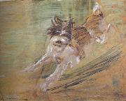 Franz Marc jumping Dog'Schlick (mk34) oil painting picture wholesale