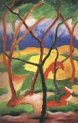 Franz Marc Weasels at Play (mk34) oil painting picture wholesale