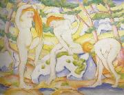 Franz Marc Bathing Girls (mk34) oil painting picture wholesale