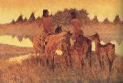 Frederic Remington The Gossiops (mk43) oil painting picture wholesale