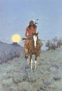 Frederic Remington The Outlier (mk43) oil painting picture wholesale