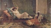 Frederick Goodall A New Light in the Harem (mk32) oil painting artist