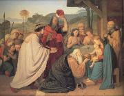 Friedrich Johann Overbeck The Adoration of the Magi (nn03) oil painting artist