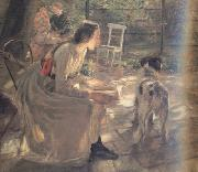 Fritz von Uhde The Artist's Daughters in the Garden (nn02) oil painting picture wholesale