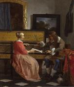 Gabriel Metsu The Music Lesson (nn03) oil painting picture wholesale