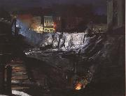 George Bellows Excavation at Night (mk43) oil painting artist