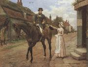 George goodwin kilburne Collecting the Post (mk37) oil painting artist