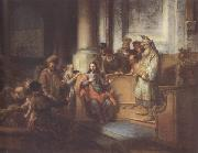 Gerbrand van den Eeckhout Christ teaching in the Synagogue at Nazareth (mk33) oil painting picture wholesale