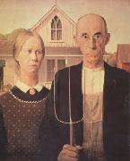 Grant Wood American Gothic (nn03) oil painting picture wholesale