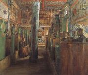 Harriet Backer Uvdal Stave Church (nn02) oil painting artist