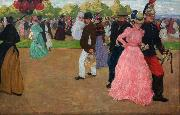 Henri Evenepoel Sunday Promenade at Saint-Cloud (nn02) oil painting picture wholesale