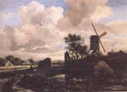 Jacob van Ruisdael Windmill by a Stream (mk25) oil painting picture wholesale