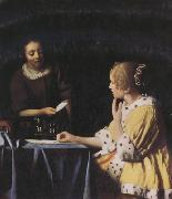 Jan Vermeer Misterss and Maid (mk30) oil painting picture wholesale