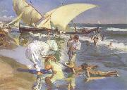 Joaquin Sorolla Beach of Valencia by Morning Light (nn02) oil painting picture wholesale