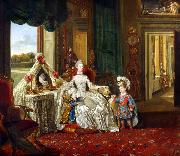 Johann Zoffany Queen Charlotte at her Dressing Table (mk25) oil painting picture wholesale