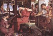 John William Waterhouse Penelope and thte Suitor (mk41) oil painting picture wholesale