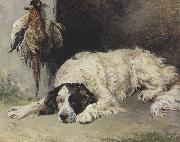 John emms An English Setter at the end of the Day (mk37) oil painting artist
