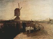 Joseph Mallord William Turner Grand Junction Canal at Southall Mill Windmill and Lock (mk31) oil painting picture wholesale