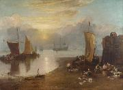 Joseph Mallord William Turner Sun rising tyhrough vapour:Fishermen cleaning and selling  fish  (mk31) oil painting picture wholesale