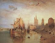 Joseph Mallord William Turner Cologne,the arrival lf a pachet boat;evening (mk31) oil painting picture wholesale