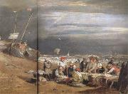 Joseph Mallord William Turner Fishmarket on thte beach (mk31) oil painting picture wholesale