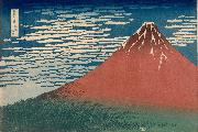 Katsushika Hokusai Mount Fuji in Clear Weather (nn03) oil painting artist