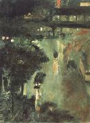 Lesser Ury Nollendorf Square at Night (nn02) oil painting artist