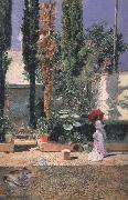 Marsal, Mariano Fortuny y Garden of Fortuny's House (nn02) oil painting artist