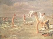 Max Liebermann Bathing Youths (nn02) oil painting picture wholesale