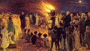 Peder Severin Kroyer Saint John s Bonfire on the Beach at the Skaw (nn02) oil painting picture wholesale