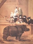 Pietro Longhi Exhibition of a Rhinoceros at Venice (nn03) oil painting picture wholesale