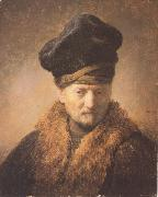 REMBRANDT Harmenszoon van Rijn Bust of an old man in a fur cap (mk33) oil painting picture wholesale