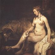 REMBRANDT Harmenszoon van Rijn Bathsbeba with King David's Letter (mk33) oil painting picture wholesale