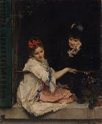 Raimundo de Madrazo y  Garreta Women at a Window (nn02) oil painting picture wholesale